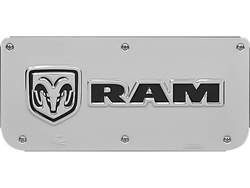 Picture of Single RAM Horizontal Logo Plate With Screws For 14