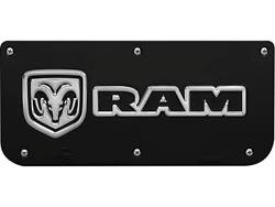 Picture of Single RAM Horizontal Logo Black Wrap Plate With Screws For 14