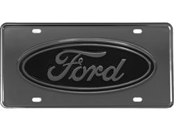 Picture of Gatorgear Ford Oval Logo License Plate - Gunmetal