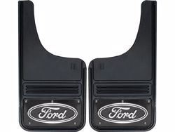 Gatorback Mud Flaps Black Ford Oval Black Wrap