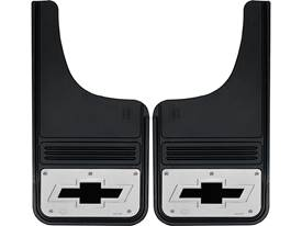 Picture of Truck Hardware Gatorback Mud Flaps - Chevy Black Bowtie