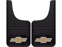 Picture of Truck Hardware Gatorback Mud Flaps - Black Wrap Chevy Gold Bowtie Logo