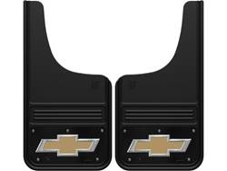 Picture of Truck Hardware Gatorback Mud Flaps - Chevy Gold Bowtie With Black Wrap