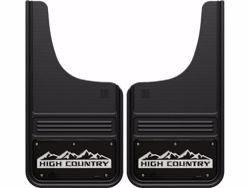 Picture of Truck Hardware Gatorback Mud Flaps - Black Wrap Chevy High Country Logo