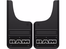 Picture of Truck Hardware Gatorback Mud Flaps - Black Wrap RAM Text Logo
