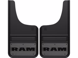 Picture of Truck Hardware Gatorback Mud Flaps - Gunmetal RAM Text Logo