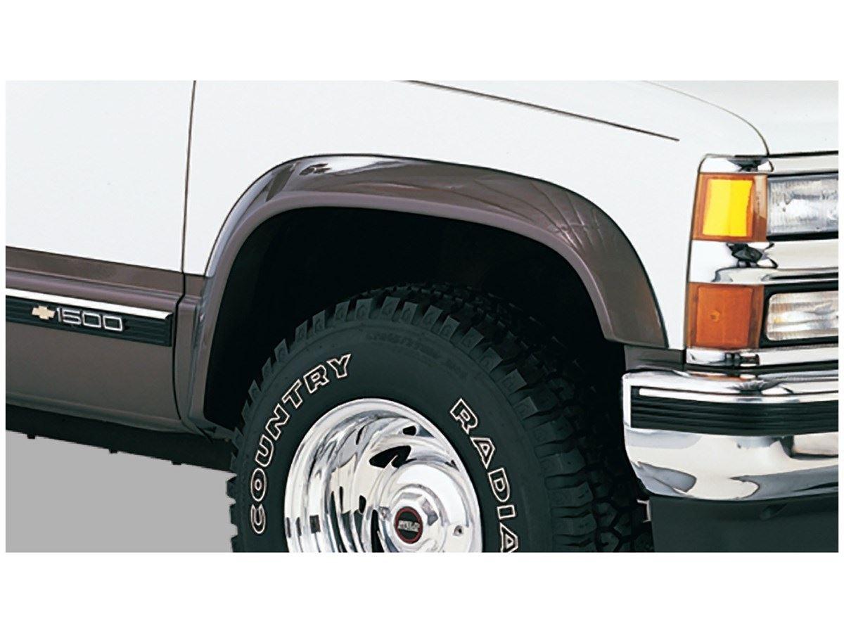 Bushwacker Extend-A-Fender Flares - OE Matte Black - Front & Rear ...