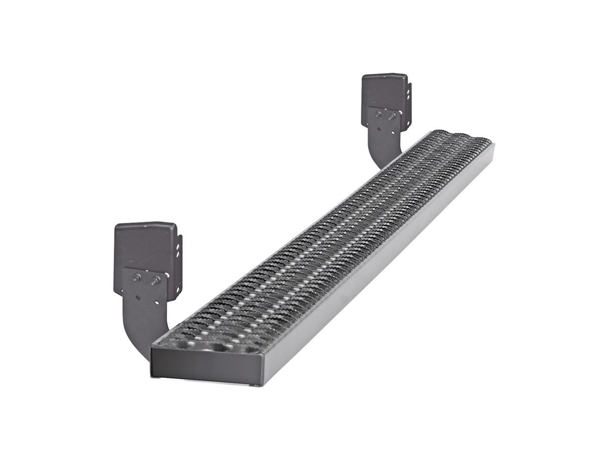 Dee Zee Rough Step Running Boards Black Aluminum