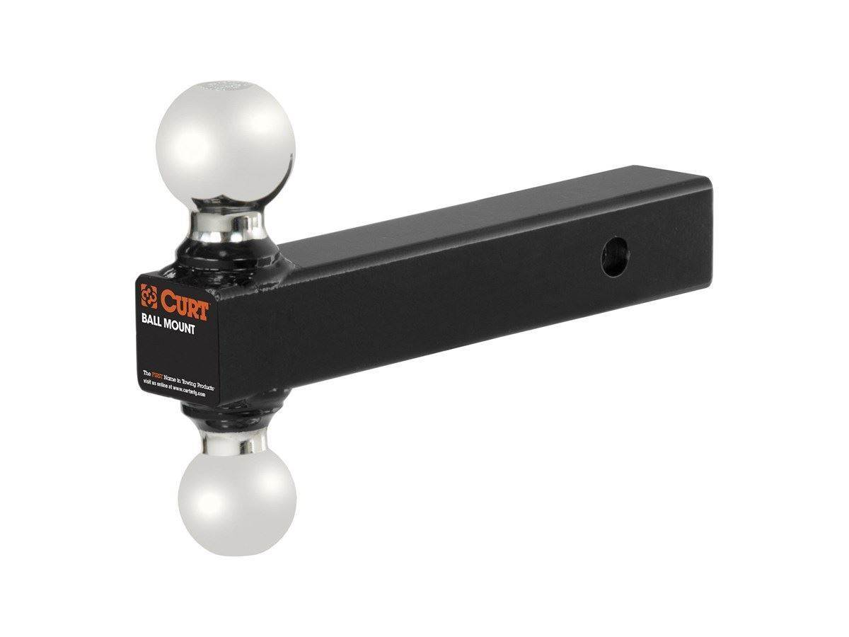 4-Inch Drop CURT 45644 Reversible Trailer Hitch Ball Mount with 2-Inch and 2-5//16-Inch Trailer Hitch Balls Fits 2-Inch Receiver 2-Inch Rise GTW 7,500 lbs