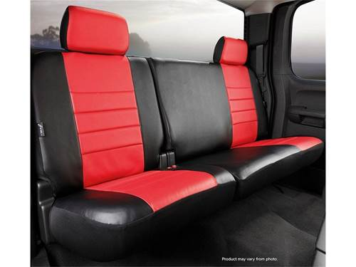 fia leatherlite custom seat cover red black rear split cushion 60 40 solid backrest. Black Bedroom Furniture Sets. Home Design Ideas