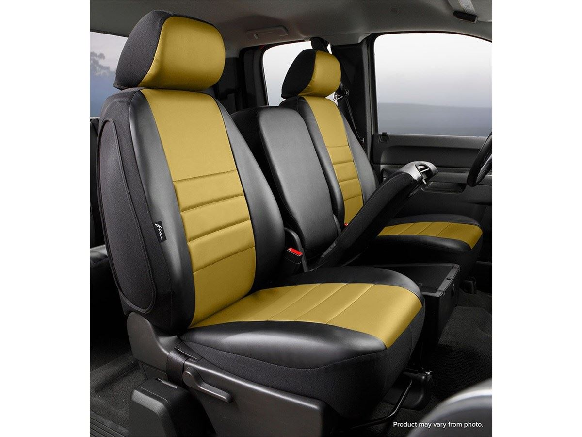 Cargo Seat Arm Rest : Fia leatherlite custom seat cover mustard blk front