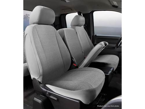 Wrangler Universal Fit Solid Seat Cover - Saddle Blanket - Gray - Front -  Bucket Seats - High Back - Bostrom Wide Ride