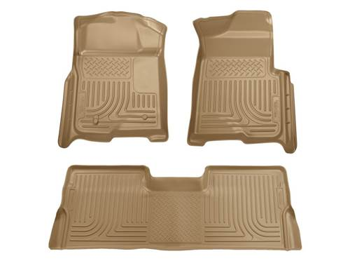 Picture of WeatherBeater Floor Liner - Tan - 2 Piece Front/1 Piece Rear - Will Not Fit w/Manual 4x4 Transfer Case Shifter - Extended Cab