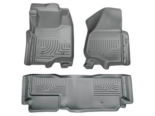 Picture of WeatherBeater Floor Liner - Gray - 2 Piece Front/1 Piece Rear - Will Not Fit w/Manual 4x4 Transfer Case Shifter - Extended Cab