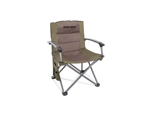 Picture of Hard Arm Camping Chair - Includes Side Pockets w/Drink Holder Compartment - Carry Bag - Load Rating 350 lb. - 600D PVC Fabric