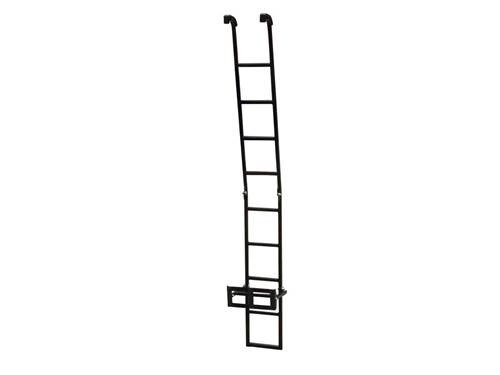 Picture of Folding Ladder - 6' Length - Black Powdercoated Zinc Plated Steel - For Use w/Rhino Alloy Trays/Baskets - Includes Storage Bag