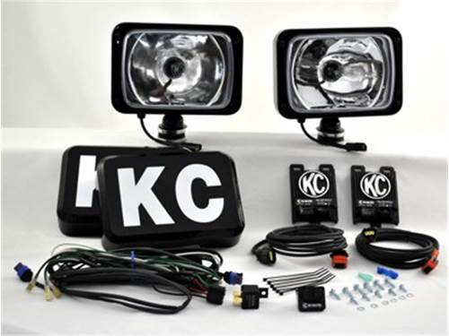 "Picture of 69 Series HID Long Range Light - 6"" x 9"" Rectangle - Clear Lens - Black Housing - 50 Watts - Pair Of Lights"
