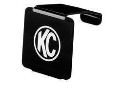 Picture of C3 LED Light Cover - Black Acrylic - Black Lens w/White KC Logo - Fits KC Model 330/1330/332/1332 - Each