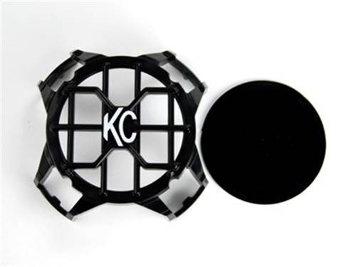 "Picture of KC LZR Series Stoneguard LED Headlight Guard - 4"" Round - Black - Single"