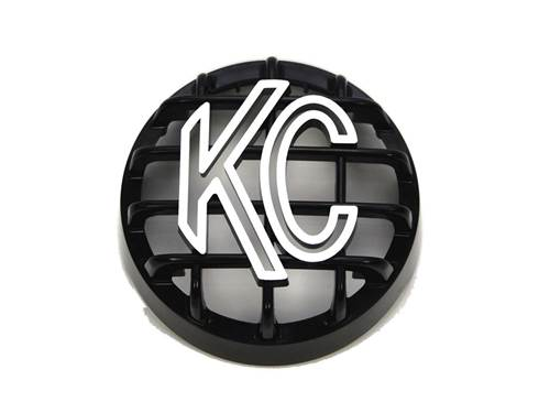 """Picture of Rally 400 Series Stoneguard Headlight Guard - 4"""" Round - Black - Single"""