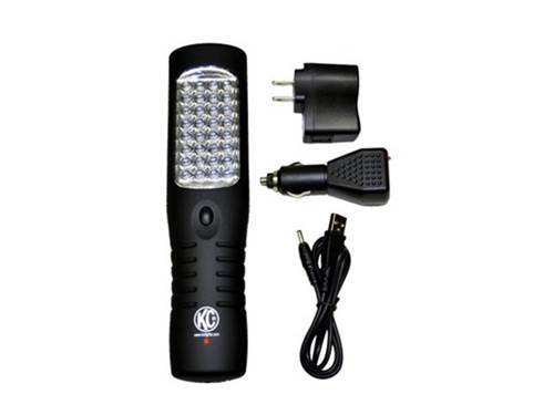 Picture of LED Work Light Flashlight - Flood Light - Black Housing - Rechargeable