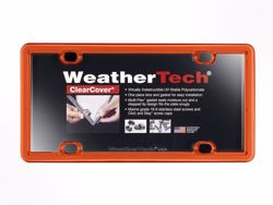 WeatherTech ClearCover License Plate Frame - Orange