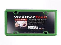 WeatherTech ClearCover License Plate Frame - Kelly Green