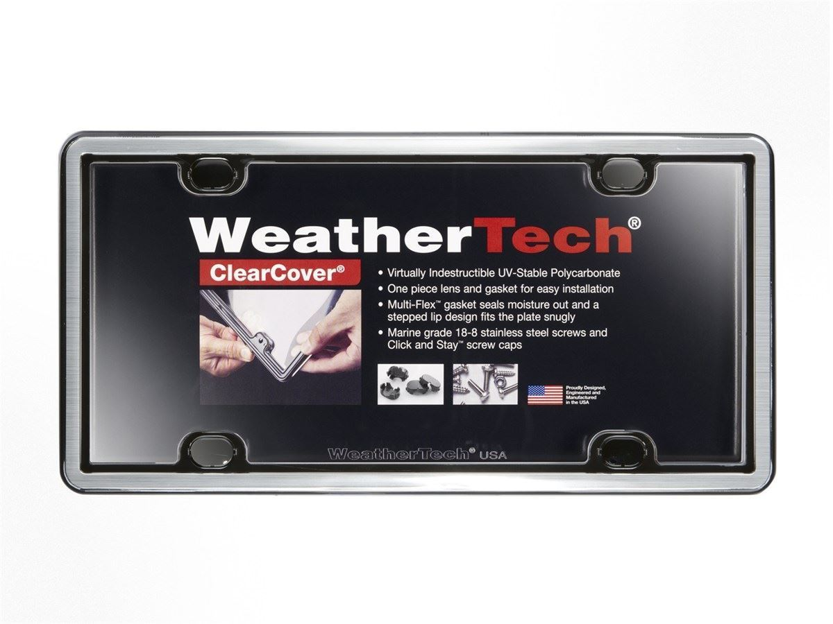 weathertech clearcovers license plate frame