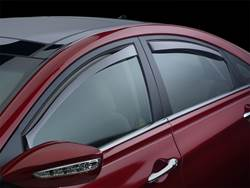 Picture of Side Window Deflectors - For Use w/Standard Wheelbase - Light Tint - Sedan