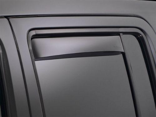 Weathertech Side Window Deflectors >> Weathertech Side Window Deflector Rear Dark Tint