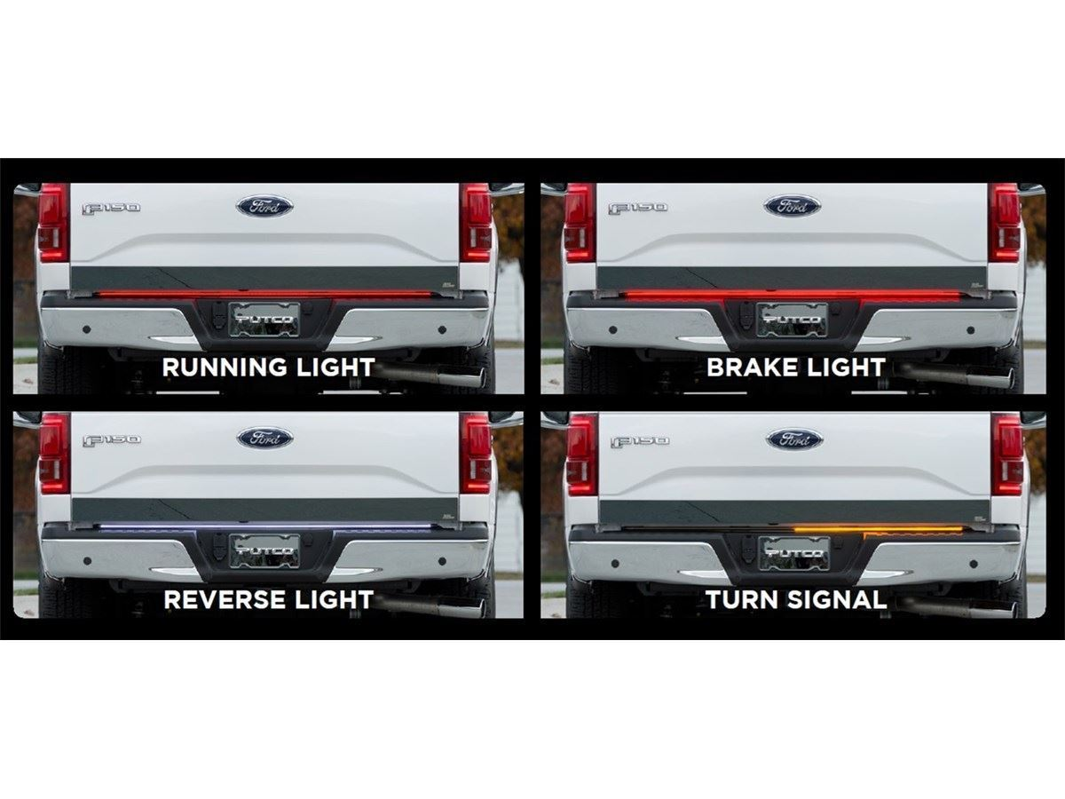 Putco switchblade led tailgate light bars sharptruck putco switchblade led tailgate light bar aloadofball Gallery