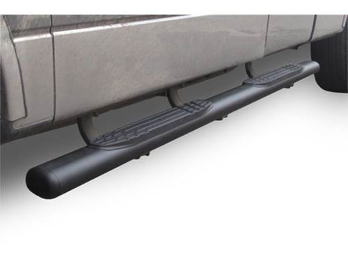 Go Rhino 4 in. 1000 Series Cab Length Oval Step Bars - Textured Black