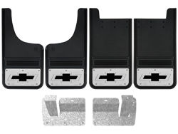 Chevy Silverado Black Bowtie Gatorback Mud Flap Set
