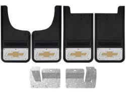 Picture of 2014-2018 Chevy Silverado Gold Bowtie Gatorback Mud Flaps - Set