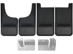 Chevy Silverado Gunmetal Plate Gatorback Mud Flap Set