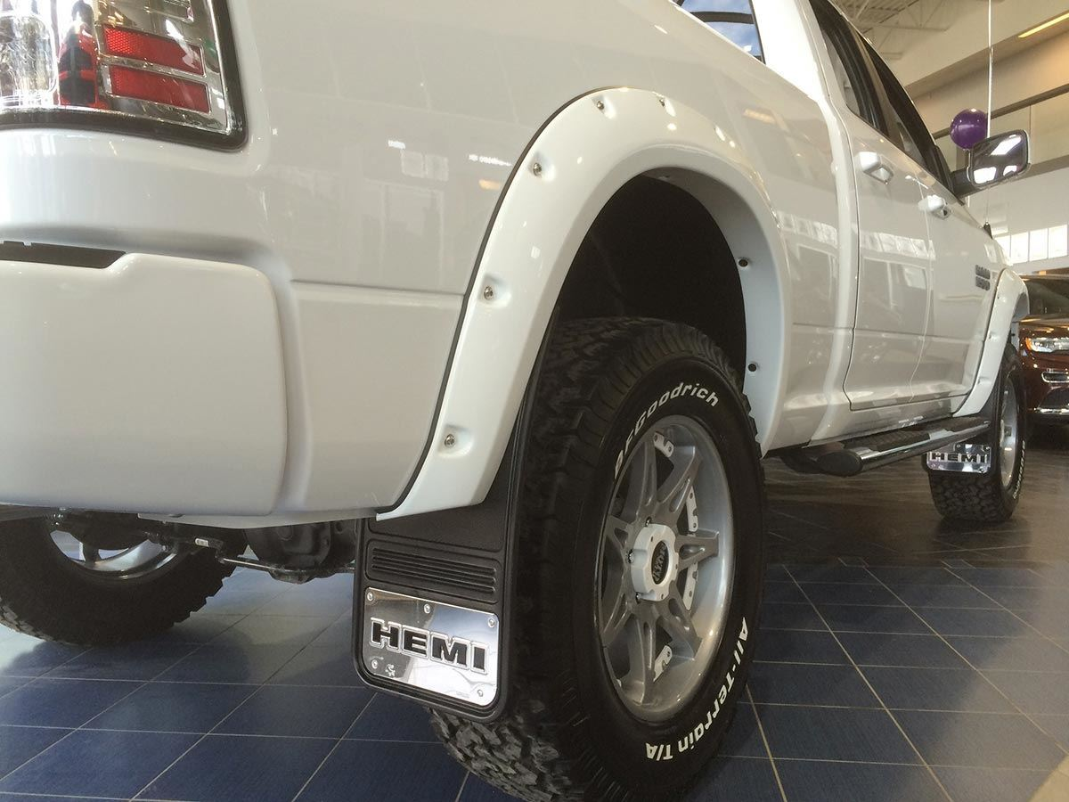 how to put mud flaps on a truck