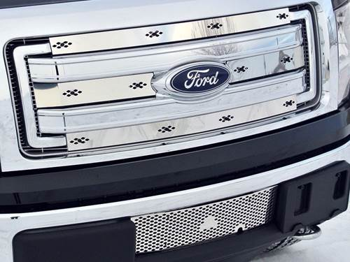 PDM Winter Front Grille/Bumper Insert Combo - Stainless Steel
