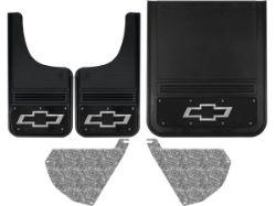 Chevy Silverado 3500HD Bowtie With Black Wrap Gatorback Dually Mud Flap Se