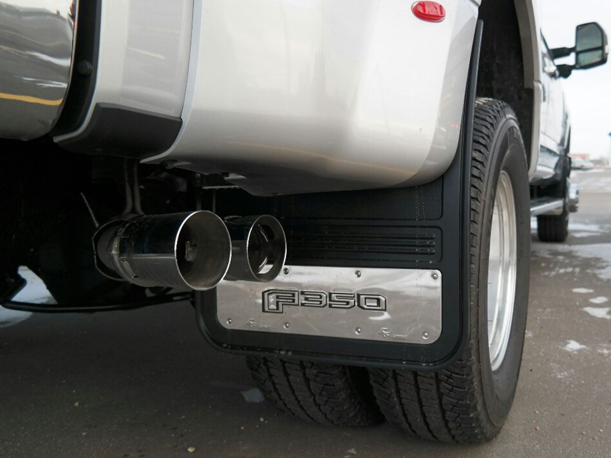 Dually Mud Flaps >> Truck Hardware Gatorback Mud Flaps - Ford F350 - SharpTruck.com