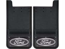 Truck Hardware Gatorback Mud Flaps - Ford Oval With Black Wrap