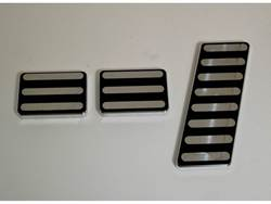 Picture of AMI Pedal Pad Kit - Lines - Black Powder Coat - Includes Accelerator/Brake/Parking Brake - Manual Trans
