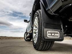 Picture of Truck Hardware Gatorback Mud Flaps - RAM Laramie Longhorn With Black Wrap