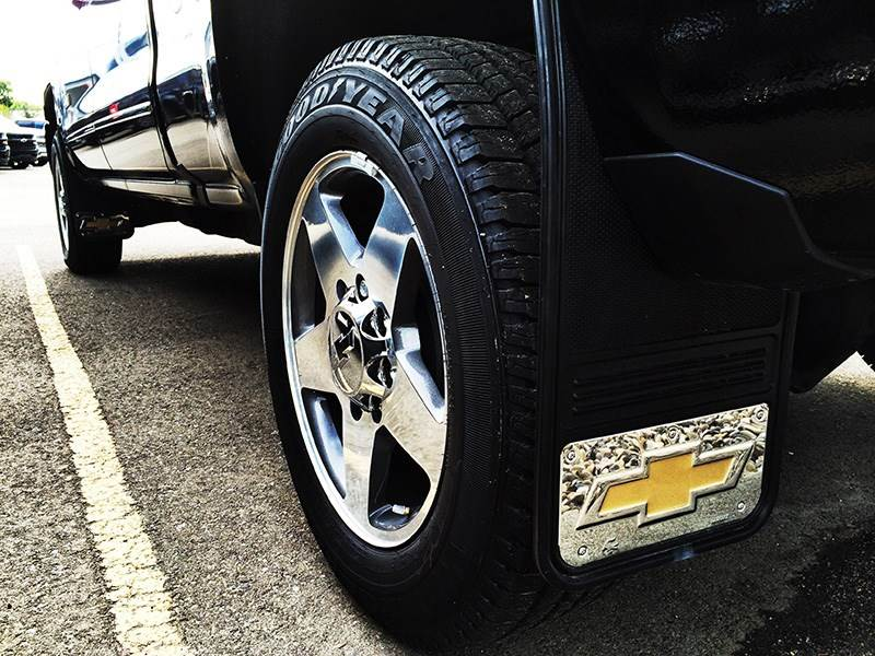 Chevy Silverado Gold Bowtie Gatorback Mud Flap Set