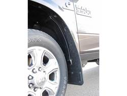 Picture of 2010-2019 RAM Logo With Gunmetal Finish Gatorback Dually Mud Flaps - Set