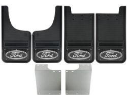 1999-2016 Ford F250/F350 Ford Oval Black Wrap Gatorback Mud Flap Set