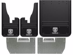 2010-2018 RAM Logo With Black Wrap Gatorback Dually Mud Flap Set