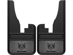 RAM Logo With Gunmetal Finish Gatorback Dually Mud Flap Set