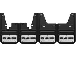 RAM Text Gatorback No Drill Mud Flap Set - without OEM Flares