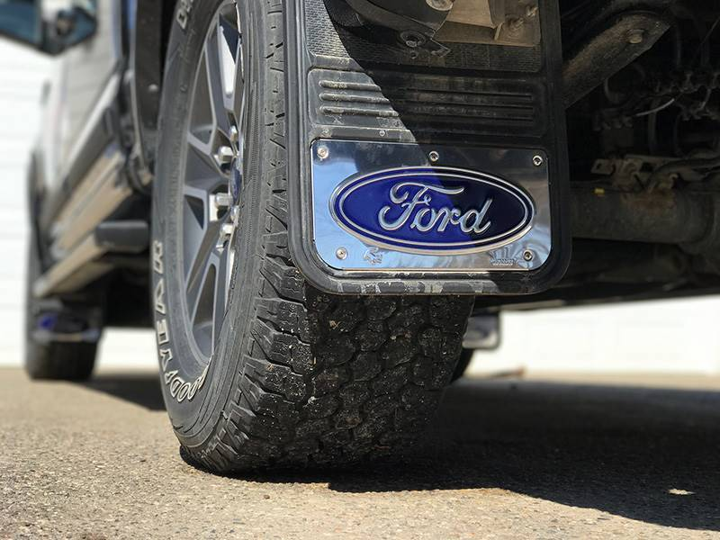 2015-2018 Ford F150 Blue Oval Gatorback Mud Flap Set ...