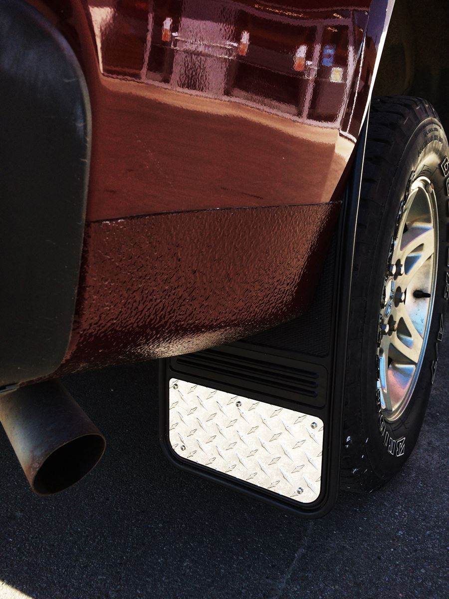 Car Floor Mats >> Truck Hardware Gatorback Mud Flaps - Diamond Tread Stainless Steel Plate - Ford - SharpTruck.com
